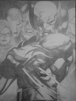 Drawing - Dark Avengers  by Milton  Gore