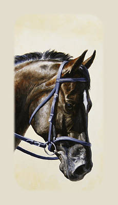 Bridle Painting - Dark Bay Dressage Horse Phone Case by Crista Forest