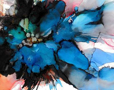 Alcohol Ink Wall Art - Painting - Dark Beauty by Louise Adams