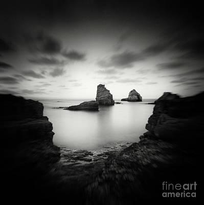 Abstract Beach Landscape Digital Art - Dark Beauty Series 1  by Yucel Basoglu
