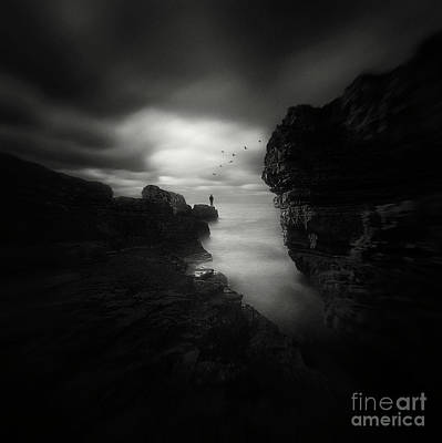 Abstract Beach Landscape Digital Art - Dark Beauty Series 2 by Yucel Basoglu