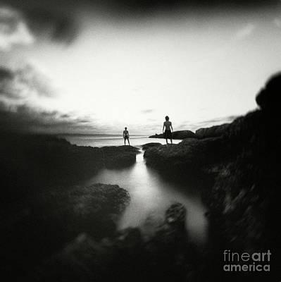 Abstract Beach Landscape Digital Art - Dark Beauty Series 5 by Yucel Basoglu