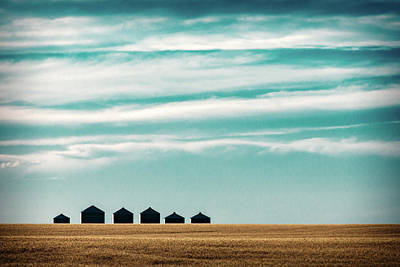 In A Row Photograph - Dark Bins by Todd Klassy