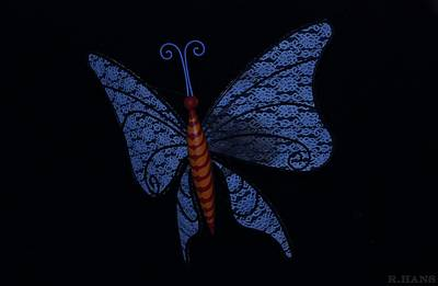Photograph - Dark Blue Butterfly by Rob Hans