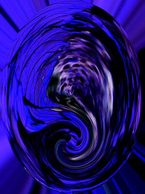 Digital Art - Dark Blue Egg by James Granberry