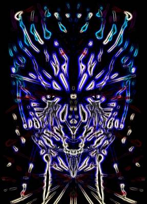 Enslave Digital Art - Dark Blue Entangled by Michael African Visions
