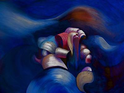 Painting - Dark Blue by Fanny Diaz