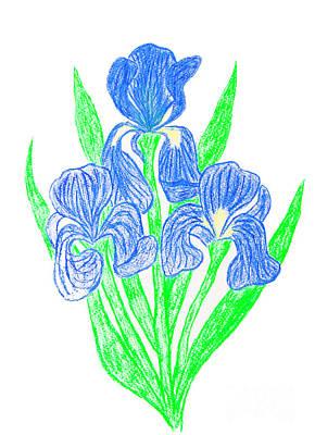 Painting - Dark Blue Irises by Irina Afonskaya