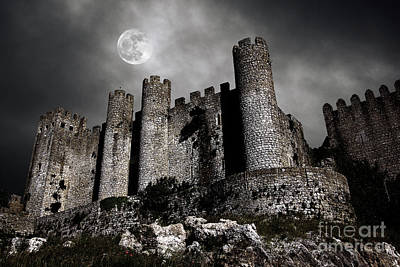 Night Moon Photograph - Dark Castle by Carlos Caetano