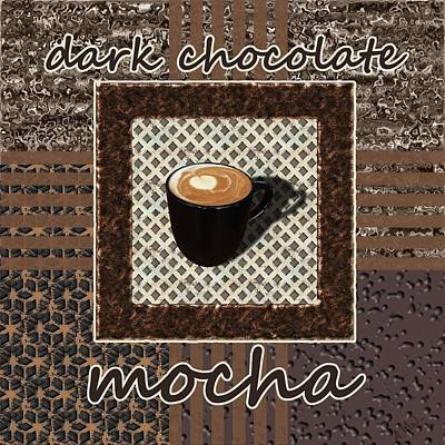 Place Painting - Dark Chocolate Mocha - Coffee Art by Anastasiya Malakhova