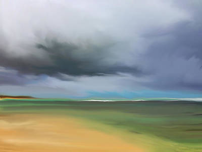 Dark Cloud - Punta Cana Art Print by Dennis Kirby