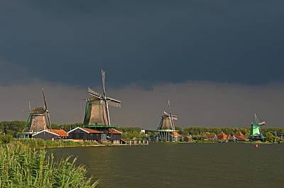 Dark Clouds Above Zaanse Schans Art Print