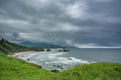 Photograph - Dark Clouds Over Cannon Beach by Anthony Doudt