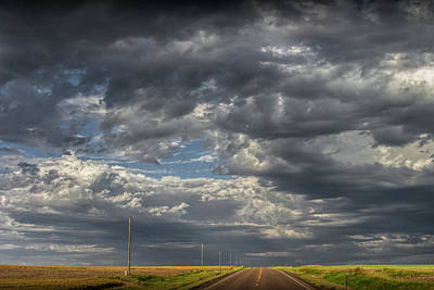 Photograph - Dark Clouds Over Highway 2 In Montana by Randall Nyhof