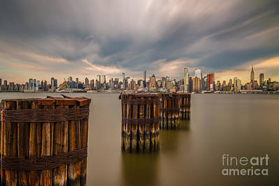 Cityscenes Photograph - Dark Clouds Over Nyc by Abe Pacana
