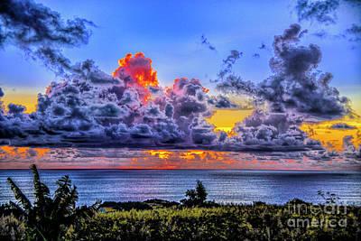 Photograph - Dark Clouds Sunset by Rick Bragan