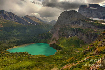 Photograph - Dark Day Over Grinnell Lake by Adam Jewell