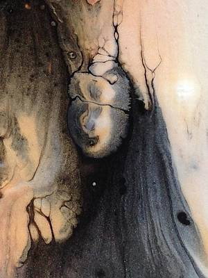 Painting - Dark Deliberation by T Fry-Green