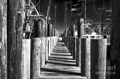 Photograph - Dark Dock At Lbi by John Rizzuto