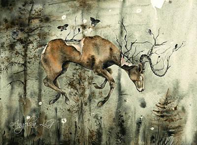 Painting - Dark Dreams by Angelina Ligomina