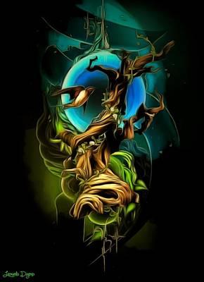 Fear Digital Art - Dark Elements - Da by Leonardo Digenio