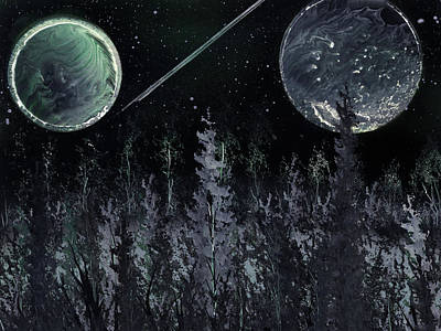 Painting - Dark Evergreen Horizon by Jason Girard