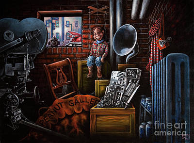 Art Print featuring the painting Dark Exile by Michael Frank