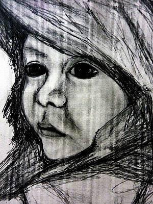 Drawing - Dark Eyes by Wanvisa Klawklean