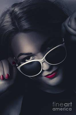 Sexy Women Photograph - Dark Fashion Portrait. Female Model In Sunglasses by Jorgo Photography - Wall Art Gallery