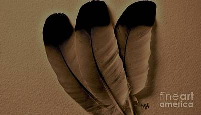Dark Feathers Original by Marsha Heiken