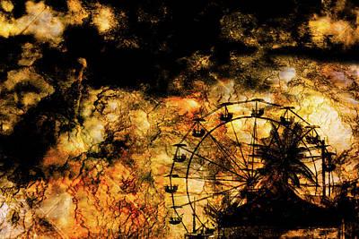 Dark Ferris Wheel Art Print by Don Gradner