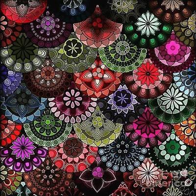 Wall Art - Digital Art - Dark Flower by Lisa Marie Towne
