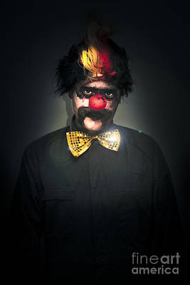 Pretend Photograph - Dark Foreboding Clown by Jorgo Photography - Wall Art Gallery