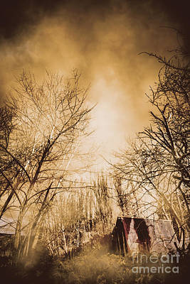Haunted Houses Photograph - Dark Forest Hut by Jorgo Photography - Wall Art Gallery