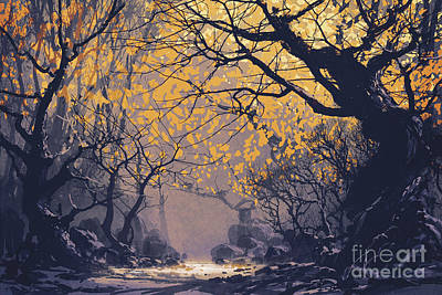 Painting - Dark Forest by Tithi Luadthong