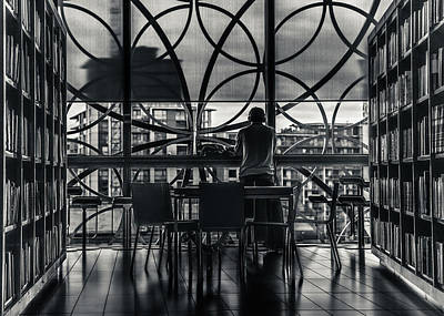 Library Photograph - Dark Geometry by Chris Fletcher
