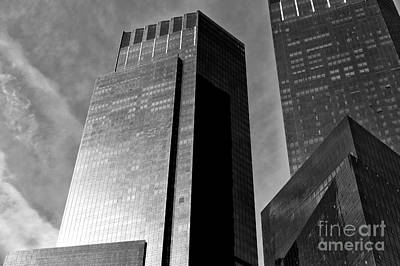 Photograph - Dark Giants Along Central Park West by John Rizzuto