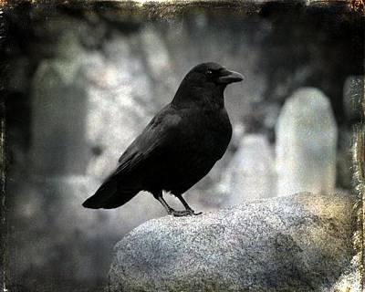 Dark Gothic Crow Art Print