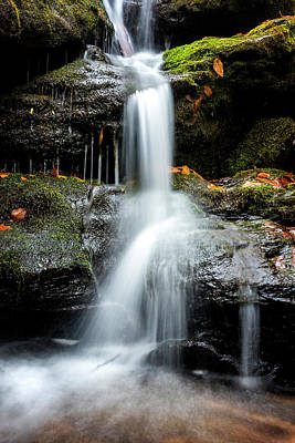 Photograph - Dark Hollow Falls by Ryan Wyckoff