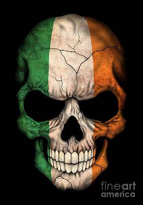 Dark Irish Flag Skull Art Print