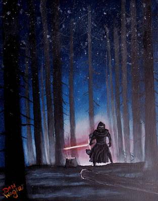 Painting - Dark Jedi by Dan Wagner