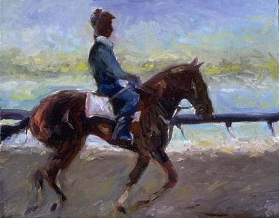 Dark Jockey Keeneland Print by Sandra Barth