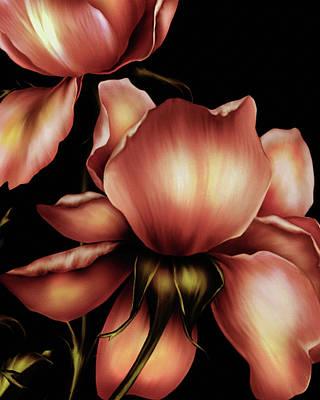 The Beauty Of Nature Mixed Media - Dark Kisses Of The Night by Georgiana Romanovna