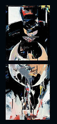 Painting - Dark Knight #1 by David Leblanc