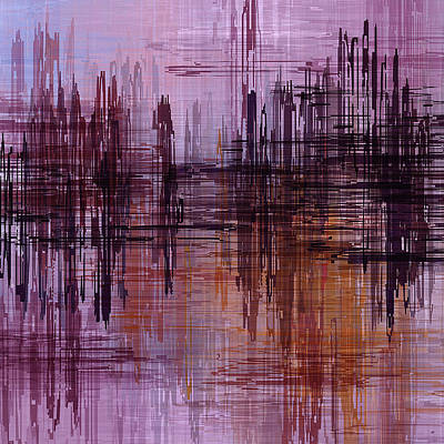 Painting - Dark Lines Abstract And Minimalist Painting by Ayse Deniz