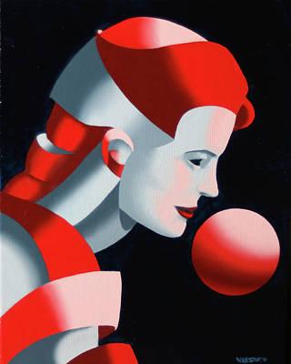 Sphere Painting - Dark Matter 9 by Mark Webster