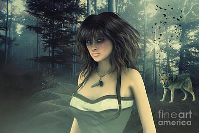 Digital Art - Dark Mistress by Jutta Maria Pusl