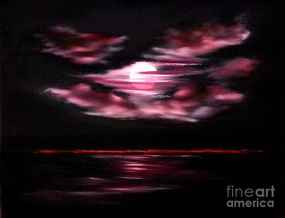 Painting - Dark Moon Arising Sold by Cynthia Adams