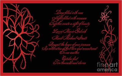 Digital Art - Dark Nights Bright Days Wedding Invitaion by Jamie Lynn