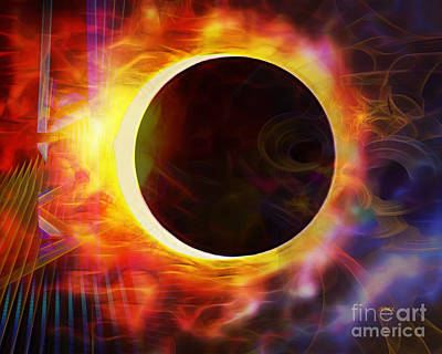 Digital Art - Dark Of The Sun by John Beck
